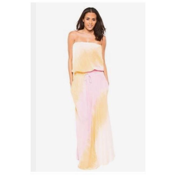 72e742438562 Elan Dresses | Ombre Dyed Strapless Maxi Dress | Poshmark